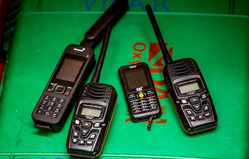 Satellite Phones, Hand-held VHF & Waterproof phones